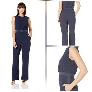 Vince Camuto Sleeveless Satin Back Crepe jumpsuit